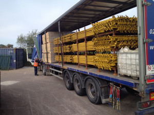 Delivery of New Scaffolding September 2014