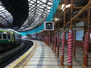 Scaffolding for Irish Rail